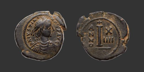 Odysseus Numismatique Monnaies Byzantines EMPIRE BYZANTIN - JUSTINIEN Ier • Decanummium