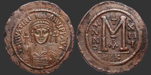 Odysseus Numismatique Monnaies Byzantines EMPIRE BYZANTIN - JUSTINIEN Ier • Follis