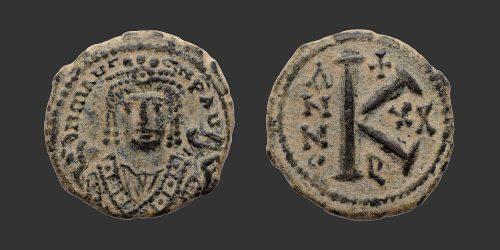 Odysseus Numismatique Monnaies Byzantines EMPIRE BYZANTIN - MAURICE TIBÈRE • Demi Follis