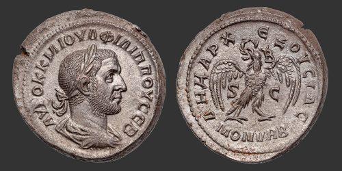 Odysseus Numismatique Monnaies Romaines Coloniales ANTIOCHE - PHILIPPE Ier L'ARABE • Tétradrachme