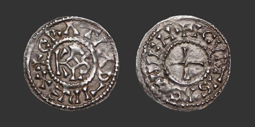 Odysseus Numismatique Monnaies Carolingiennes CHARLES II LE CHAUVE - CURTISASONIEN • Denier