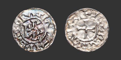Odysseus Numismatique Monnaies Carolingiennes CHARLES II LE CHAUVE - LE MANS • Denier