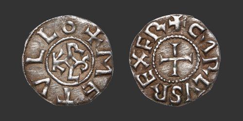 Odysseus Numismatique Monnaies Carolingiennes CHARLES II LE CHAUVE - MELLE • Denier