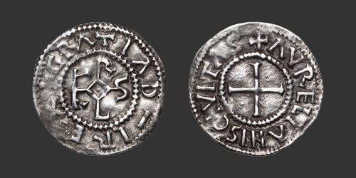 Odysseus Numismatique Monnaies Carolingiennes CHARLES II LE CHAUVE - ORLÉANS • Denier