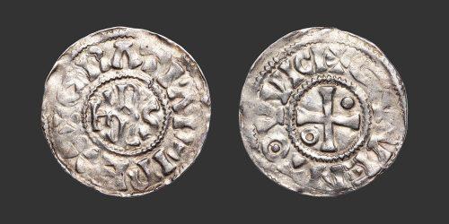 Odysseus Numismatique Monnaies Carolingiennes CHARLES II LE CHAUVE - QUENTOVIC • Denier