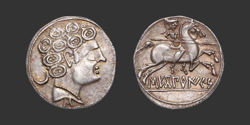 Odysseus Numismatique Monnaies Grecques Ibériques IBÉRIE - SEKOBIRIKES • Denier