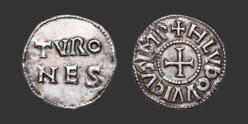 Odysseus Numismatique Monnaies Carolingiennes LOUIS Ier LE PIEUX - TOURS • Denier