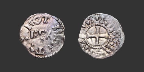 Odysseus Numismatique Monnaies Capétiennes ROBERT II LE PIEUX - PARIS • Obole