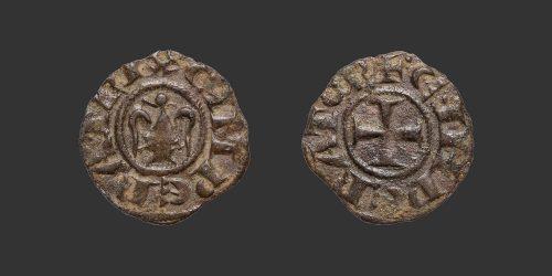 Odysseus Numismatique Monnaies Féodales ROYAUME DE SICILE - HENRI VI & CONSTANCE • Denier